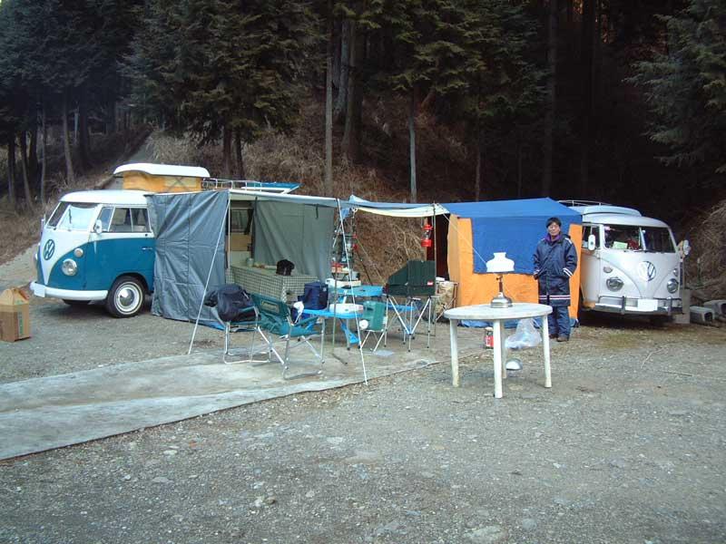 清川リッチランドでのキャンプ。